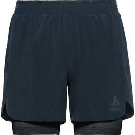 Odlo Millennium Linencool PRO 2 in 1 Shorts Heren, blue aster/black